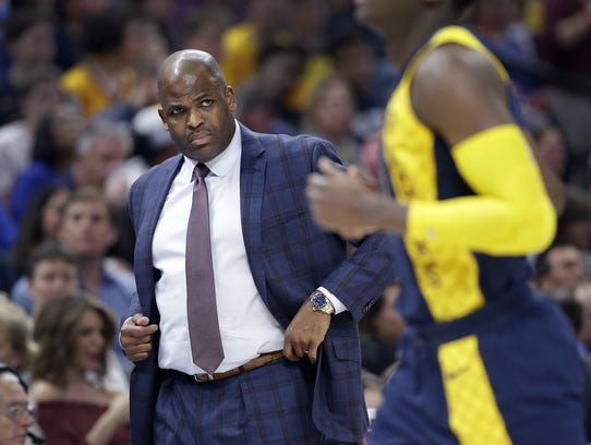 Indiana Pacers head coach Nate McMillan in the first