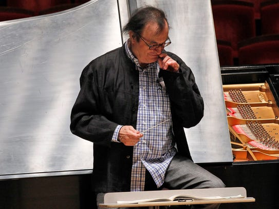 Conductor Charles Dutoit rehearses with the Philadelphia