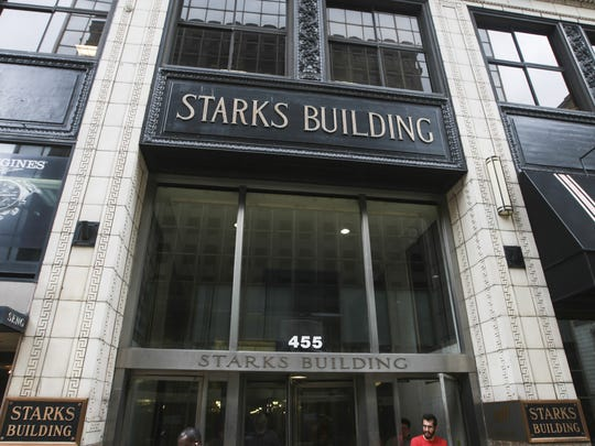 The Starks Building on Fourth Street in downtown Louisville.