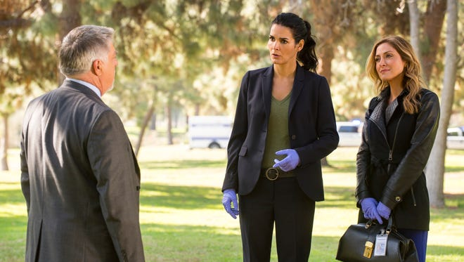 Angie Harmon, left, and Sasha Alexander star in TNT's 'Rizzoli & Isles,' which will end after its seventh season.