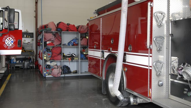 Central Lyon County Fire Protection District's firefighters store their gear in cubbies at their current 231 Corral Drive station, but it's frequently exposed to carbon monoxide or carbon dioxide. A remodel of the facility will allow them to place their equipment elsewhere.