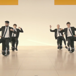 """A screencap from OK Go's """"I Won't Let You Down"""" music video."""
