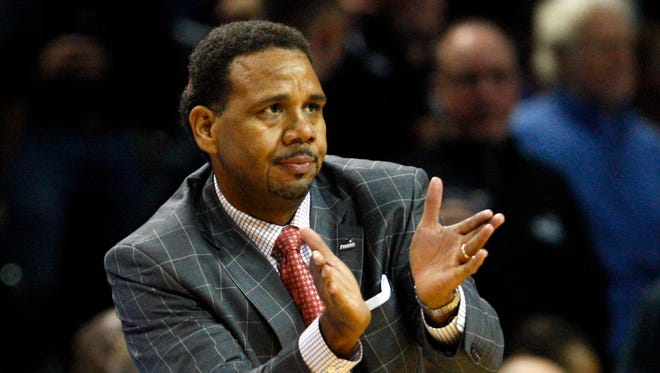 "On suspending two Providence freshmen for the season, coach Ed Cooley said in a statement, ""We are disappointed in some of the choices"" the two have made."