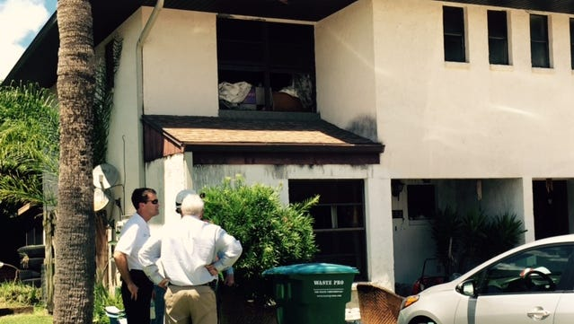 Crews from Cape Canaveral Fire-Rescue and officers from the Brevard County Sheriff's Office are on scene after a fire engulfed the first floor of a townhouse at 432 Sailfish Avenue on Thursday afternoon.