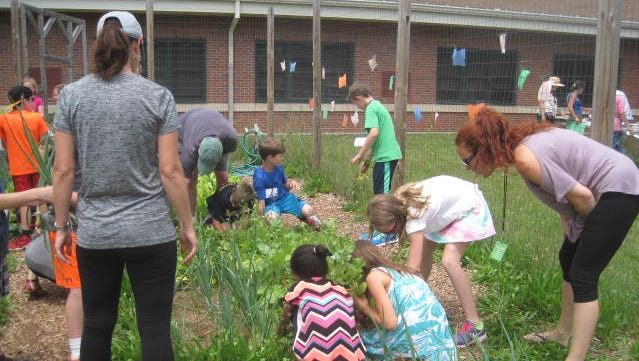 The Seeds to Salad program with third-graders at Whiton Elementary School in Branchburg and second- and third-graders at Pine Grove Manor Elementary School in the Somerset section of Franklin.
