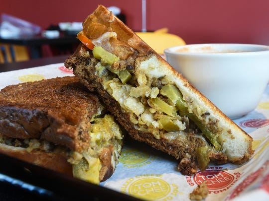 Armagoetta crunchy grilled cheese sits on display Thursday,