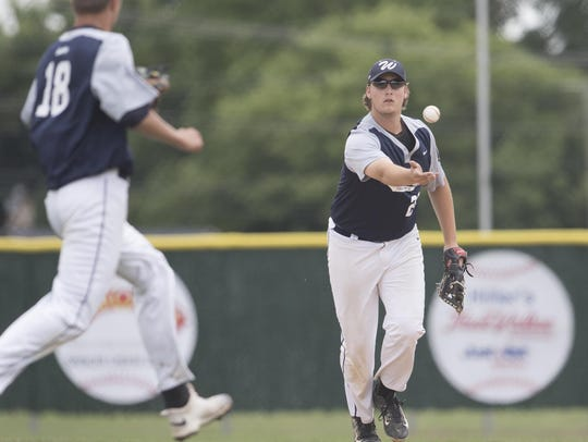 Wausau's Benjamin Schubring tosses the ball to pitcher