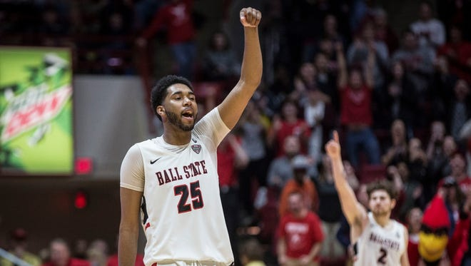Ball State University took on Akron on Jan. 27 inside Worthen Arena. Ball State won the game in double overtime for a final score of 111-106.