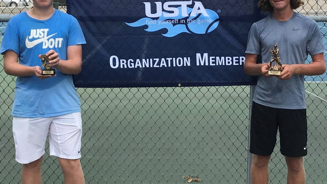 Ryan Kelley and Griffin Millspaugh were the finalists in the High School Division of the 2020 Canton Community Tennis Association Stark County Open Championships.