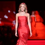Kristin Cavallari walks the runway at the Go Red for Women Red Dress Fashion Show at Lincoln Center in New York.