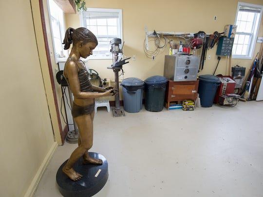 View of the interior of Kristen Visbal's studio in