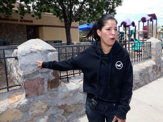 Elizabeth Flores, the mother of boys involved in a confrontation with police Thursday, on Sunday gives her account of the event outside the Seville Recreation Center at 6700 Sambrano Ave., where the incident happened.