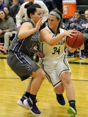 Sophomore Cheridan Hatfield, right, was been in Wilson Memorial's starting lineup since January.