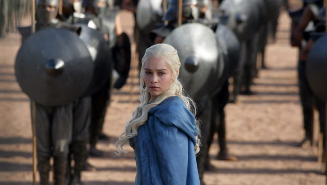 "Emilia Clarke as Daenerys Targaryen in a scene from ""Game of Thrones."""