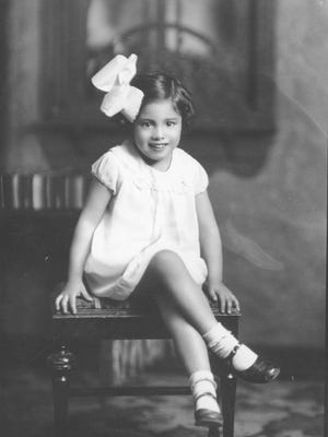 Undated photo of a little girl