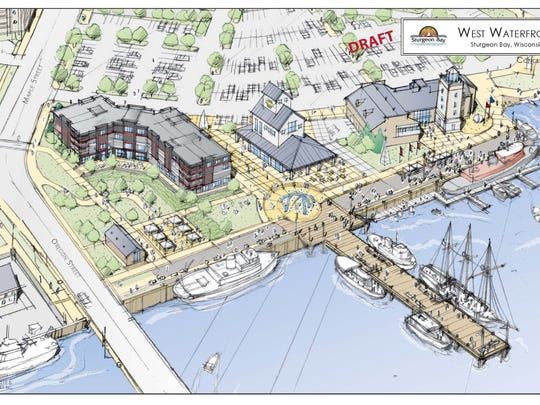 Proposed Sturgeon Bay waterfront redevelopment project stalled after Friends of the Sturgeon Bay Public Waterfront sued city.
