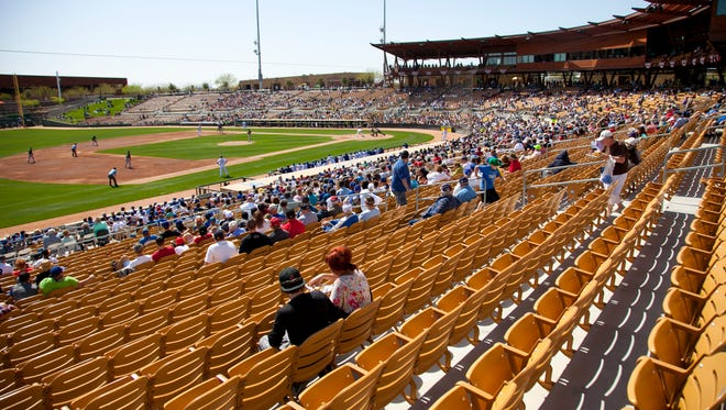Camelback Ranch Glendale, host to the Los Angeles Dodgers and Chicago White Sox, was the largest complex in the Cactus League.
