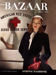 Lauren Bacall on the cover of the March 1943 issue