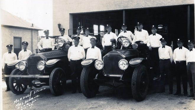 The Melbourne Fire Dept. as seen in this 1929 photo.
