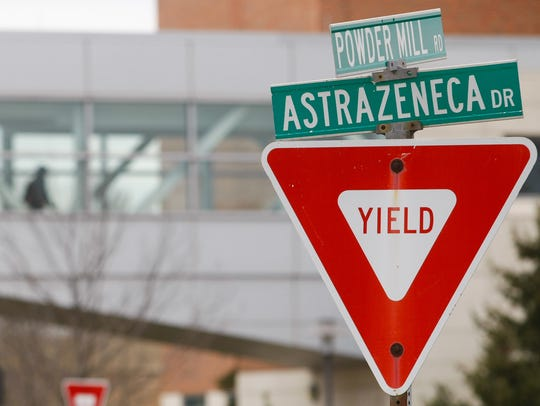 The AstraZeneca headquarters in Fairfax is seen in
