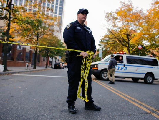 NYPD officers respond after reports of multiple people