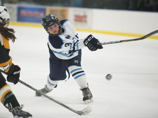 Burr and Burton vs. Mount Mansfield Girls Hockey 2/24/16