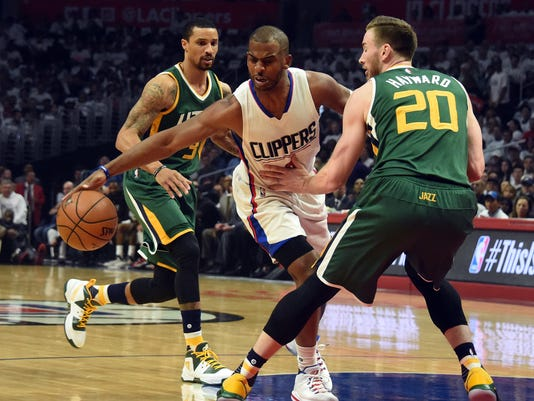 NBA: Playoffs-Utah Jazz at Los Angeles Clippers
