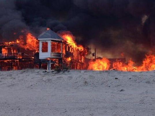 fire in sea isle
