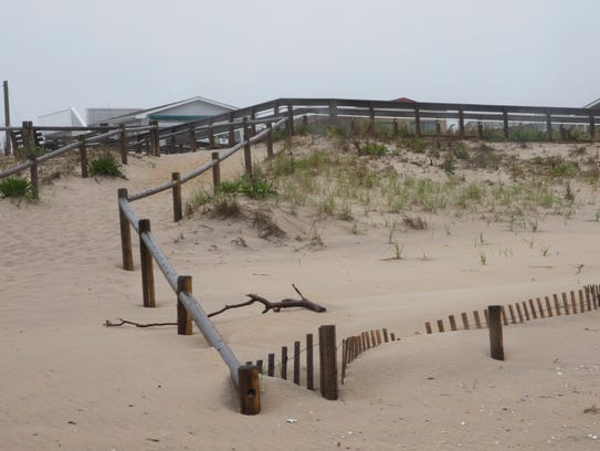 Beach acces walkway and ramp at 80th Street in Harvey