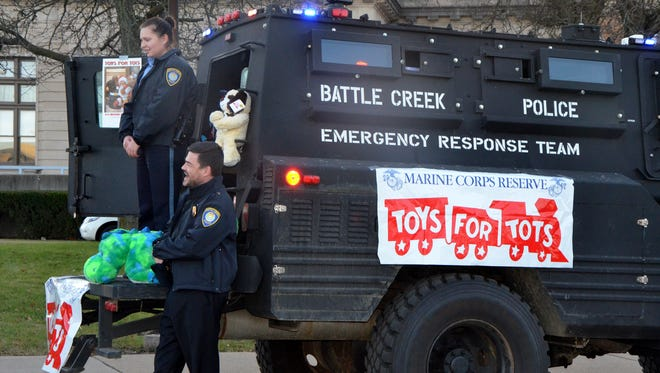 The Battle Creek Police Department held their annual Stuff-a-Truck event on Friday, Dec. 1, from 4 to 7 p.m. The event wrapped up the department's annual participation in the U.S. Marine Corps Reserve Toys for Tots program.