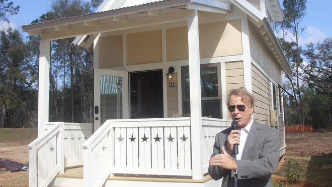 Tallahassee businessman Rick Kearney is shown at The Dwellings, his tiny house community initiative. Kearney is launch the second year of the  #GiveTLH campaign, featuring  local non-profit organizations.