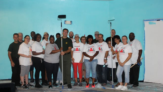 Aramark, St. Lucie County Sheriff's Office and Boys & Girls Clubs employees renovated the Chuck Hill Unit in Port St. Lucie.