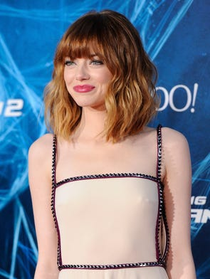 """Actress Emma Stone attends the premiere of  """"The Amazing Spider-Man 2"""" at the Ziegfeld Theatre on April 24, 2014 in New York."""
