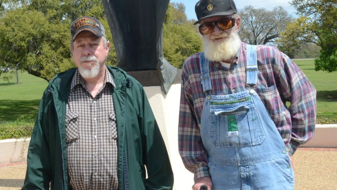 Vietnam veterans Donald Ray (left) and Offie Bridges have filed claims for benefits from the U.S. Department of Veterans Affairs.