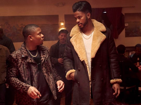"Jason Mitchell (left) and Trevor Jackson in a scene from the remake of ""Superfly,"" by Director X."