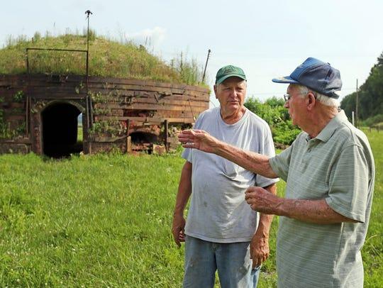 Marvin Reynolds, left and Bernard Gray, former employees