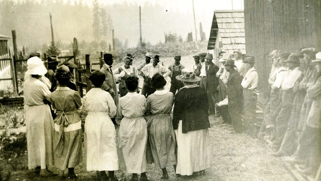 Around 1912, Washington State College extension agent Buchannan demonstrates chicken flock-culling techniques at the Alfred Hauff chicken ranch near Long Lake. Since the university's founding in 1890, WSU Extension has been a valuable resource to farmers around the state. To see more photos from the Kitsap County Historical Society Museum archives, visit www.facebook.com/kitsaphistory or stop by the museum at 280 Fourth St. in Bremerton. Call 360-479-6226 for information.