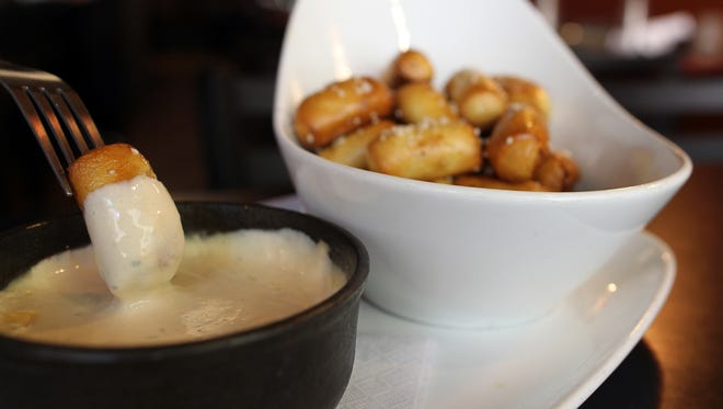 Graze's pretzel fondue is seen on Monday, Oct. 12, 2015.
