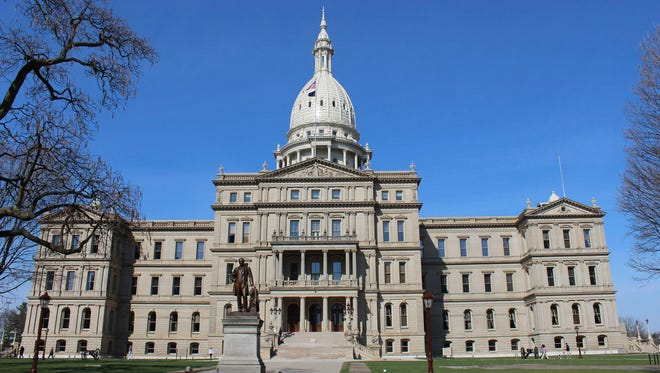 The Michigan state Capitol building in Lansing.
