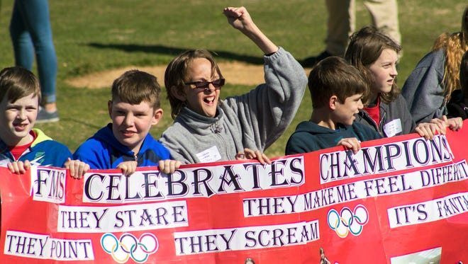 The 2017 Fairview Special Olympics Spring Games were held on April 7 at the high school stadium.