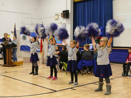 Pisgah Elementary students took part in an assembly