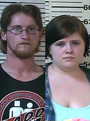 Andrew Joseph Bussdieker, left, and Nicole Renee Bussdieker, were charged after a 15-year-old runaway was recovered June 14.