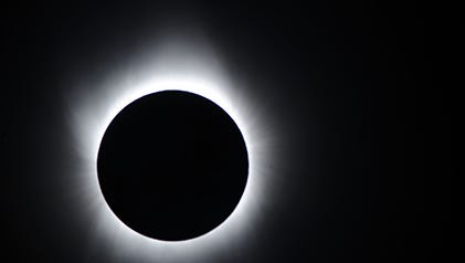 A solar eclipse.