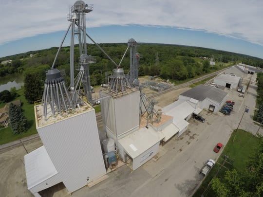 Adell Cooperative added four 5000 bu bins at the far