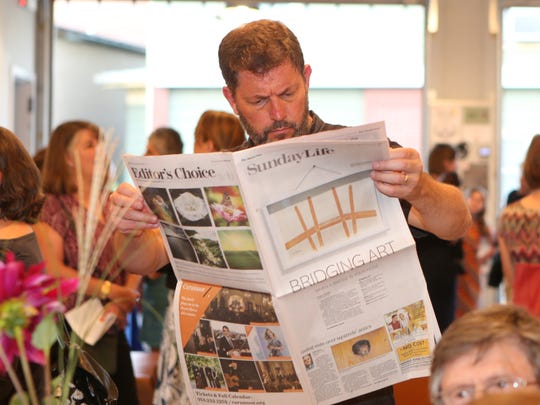 Lohud and The Journal News host Bridging Art art salon, inspired by the Tappan Zee Bridge and its replacement to benefit Volunteer New York! held at Union Arts Center in Sparkill on Tuesday, Sept. 26, 2017.