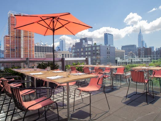 Perfect patios for summer dining for La piscine restaurant new york