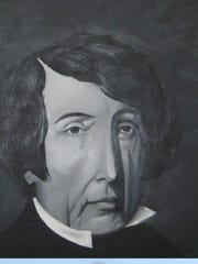 This is a painting of Roger B. Taney that hangs in the office of the White River Historical Society in Forsyth.