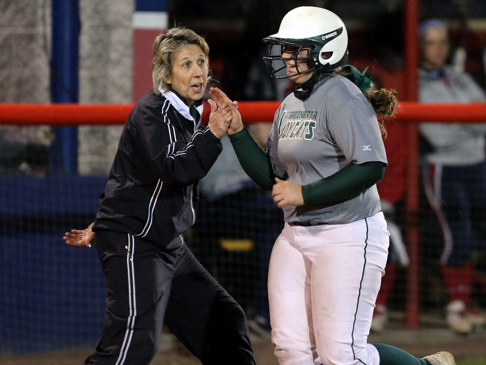 Former Greenbrier softball coach Julie Head (left)