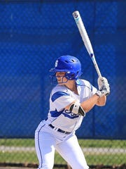 Salem's Morgan Overaitis has shown power this season with nine home runs through 19 games and is batting well above the .600 mark.