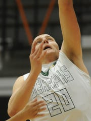 St. Bonaventure's Zack Kenny puts in a layup during
